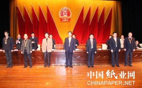 """亚太森博获""""日照经济技术开发区2012年度财税贡献先进"""