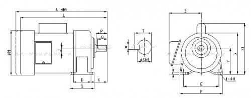 三相电机正反电路立体图