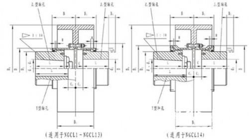 沈阳ngcl型带制动轮鼓形齿式联轴器特点