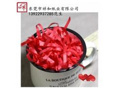 东莞厂家批发纸丝 礼盒/喜糖盒填充物 拉菲草丝 (大红色)