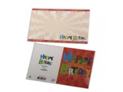优质纸盒厂家供应300g白卡纸单铜纸贺卡折叠印刷彩色卡片