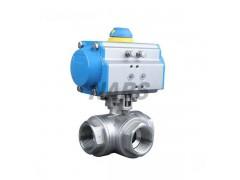 进口气动螺纹三通球阀 进口气动螺纹三通换向阀