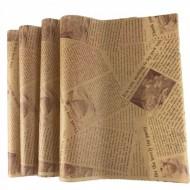 大量供应食品包装纸防油纸汉堡纸淋膜纸蛋糕杯纸印刷餐盘垫纸