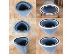 铸造球化厂磨砂抛丸机滤芯 3266覆膜除尘滤筒