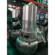 蓝深增强型不锈钢潜水排污泵WQ100-15-7.5
